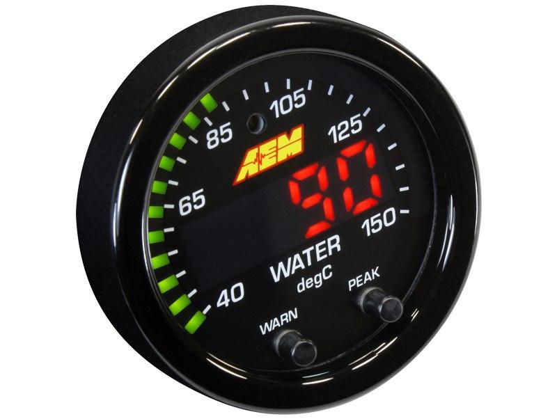 Zegar AEM ELECTRONICS X-Series 150C Water/Trans/Oil Temp - GRUBYGARAGE - Sklep Tuningowy